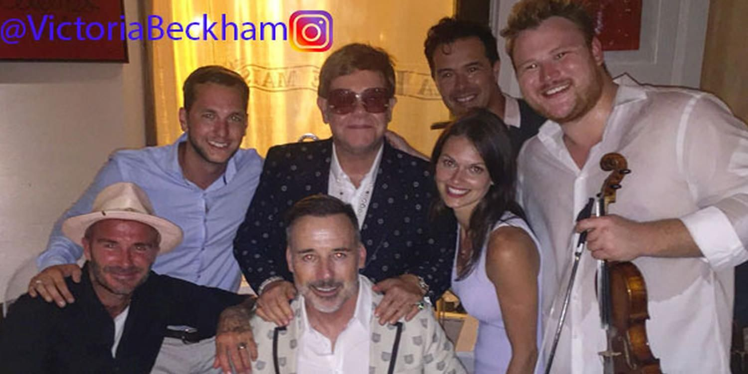 Gypsy Jazz Band Performs For The Beckhams