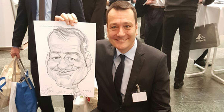 Caricaturist Draws A Win At Mannheim Exhibition
