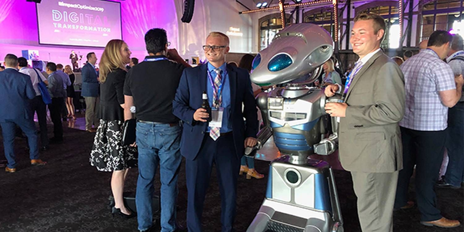 Robot Becomes The Talking Point At Chicago Business Conference