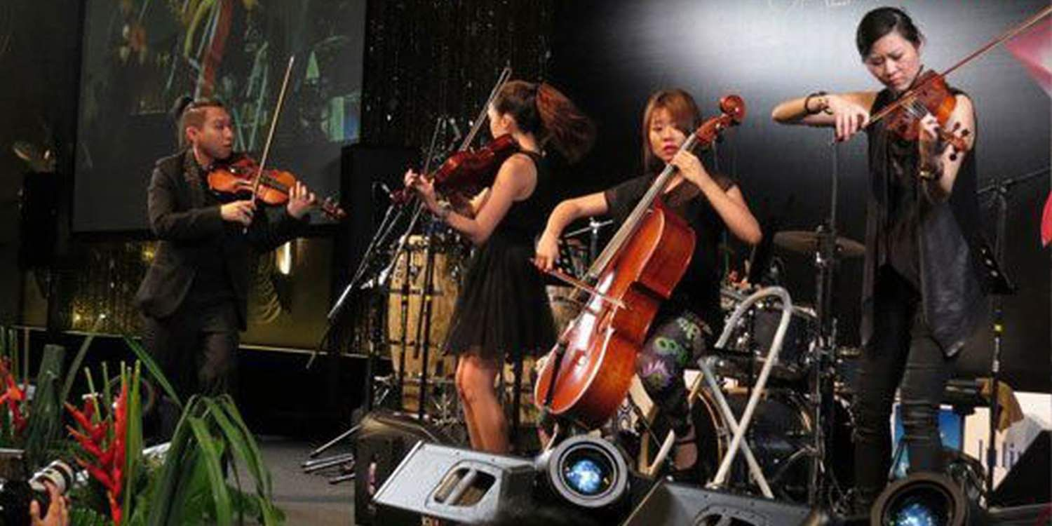 Singapore String Quartet Impress Guests At The Yacht Show