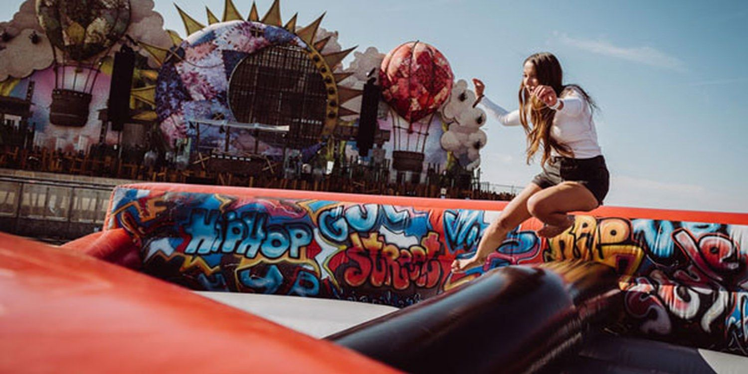 World's Longest Inflatable Obstacle Course