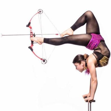 Hand balancing/contortion