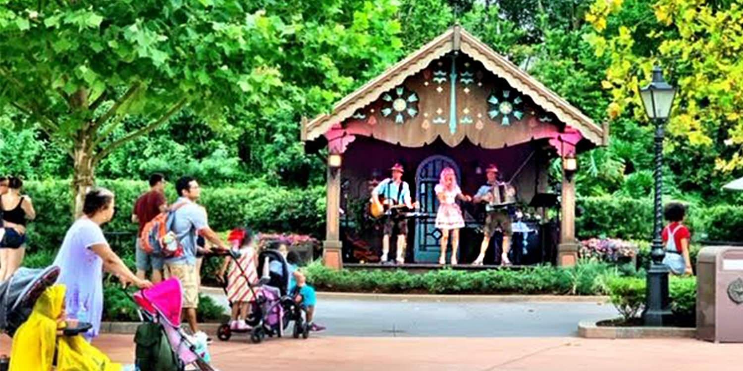 Hundreds Of Visitors Enjoy An Authentic Bavarian Experience At Disney Epcot