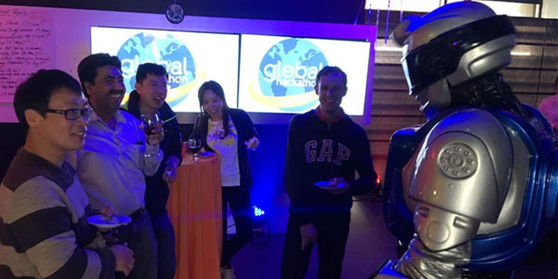 Talking Robot Wins Over Guests At Hackathon