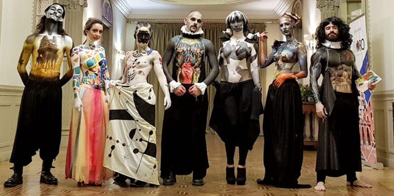 Body Painters Recreate Famous Art Work In Madrid