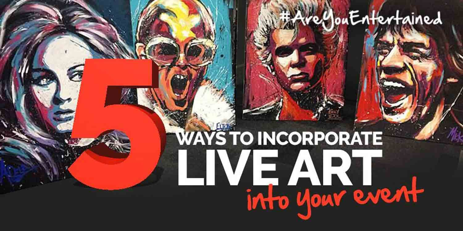 5 Ways to Incorporate Live Art Into Your Event
