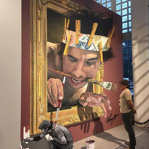 3D Chalk Street Painter - Juandres Vera