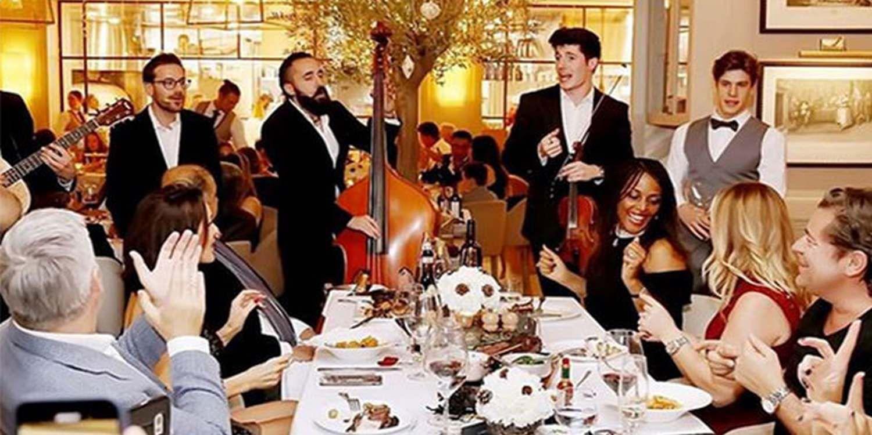 Italian Roaming Band Entertain Guests At Luxurious Dubai Dinner