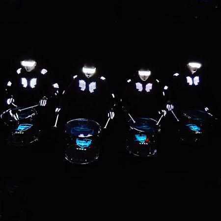 Drumbots - Hologram Drummers