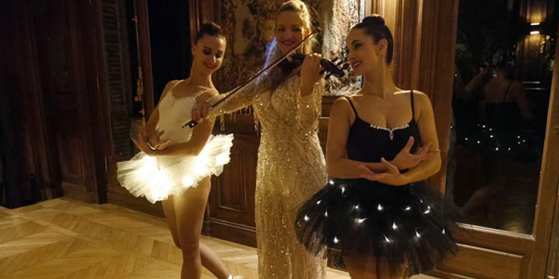 Elegance At Black Tie Reception In Paris