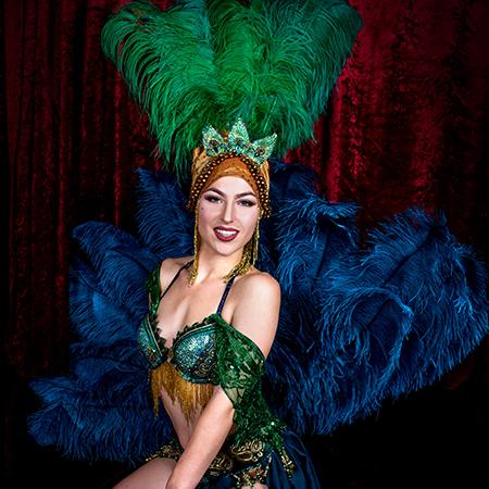 Aria Delanoche Burlesque - Peacock