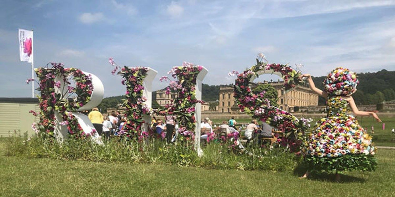 Flower Hostess Blooms At The RHS Chatsworth Show