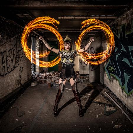 Talulah Blue - Fire Performance