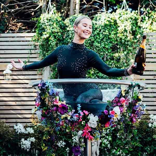 Garden of Eden giant champagne glass
