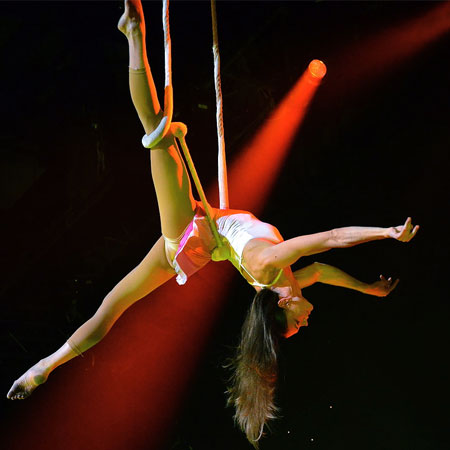 Tatiana Thomas - Numéro de trapèze fixe