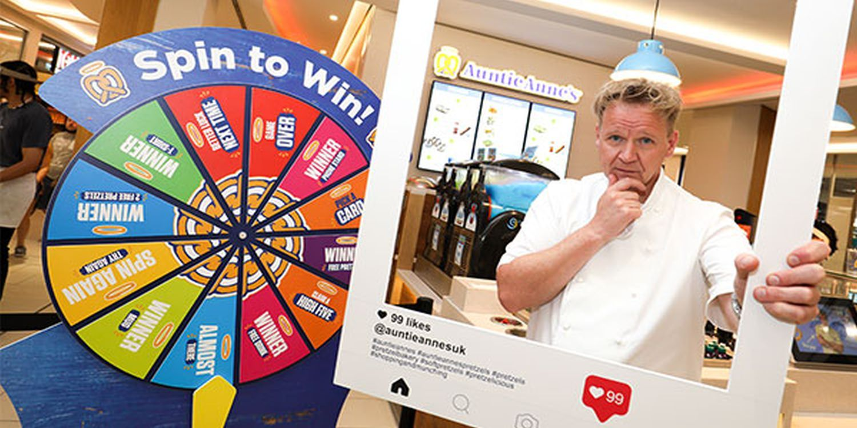 Gordon Ramsay Lookalike Creates A Buzz In Pretzel Shop