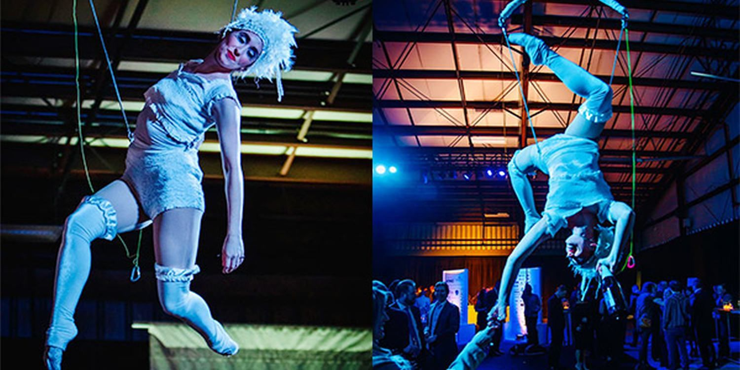 Champagne Aerialists Become A Hit At Chilliwack Chamber Of Commerce Excellence Awards Gala