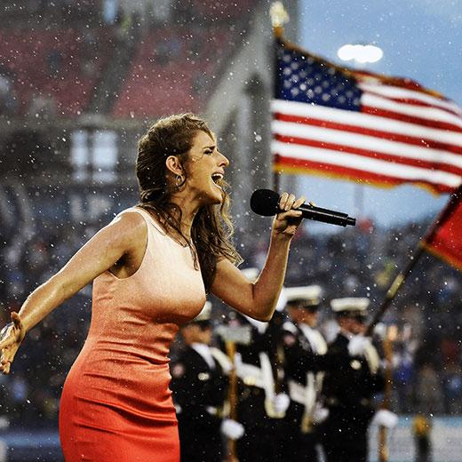 Janine Stange - Anthem Singer