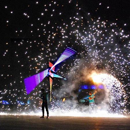 Pakistan Stick Art - Fire & LED