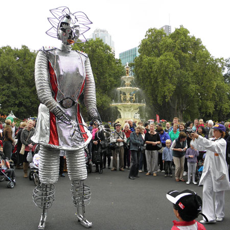 Electra Android - Stilt Walkers Australia