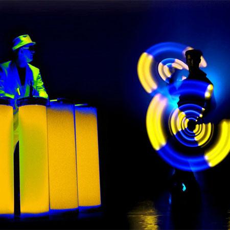 Till Pöhlmann - LED Show with Percussion