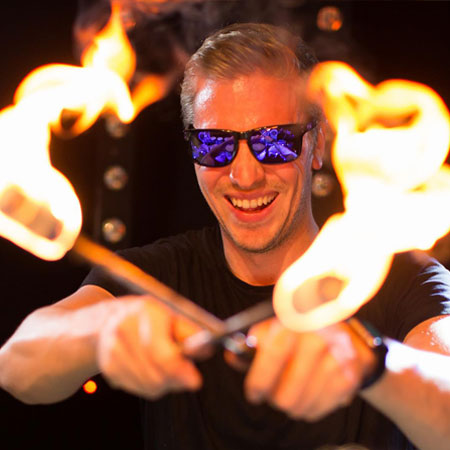 LED Fire Drums