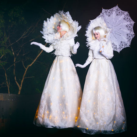 Crystal Moon Stilt Walkers - In House Production