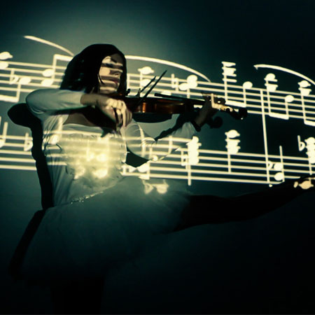 VioDance - Violin Video Projection