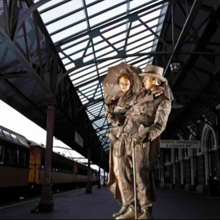 Highly Flammable - Gold Victorians Living Statues