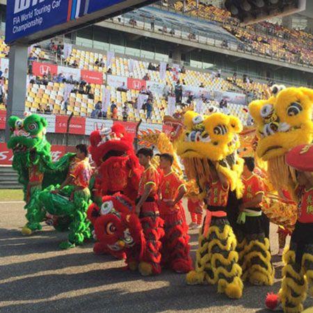 Lion dance and Dragon Dance