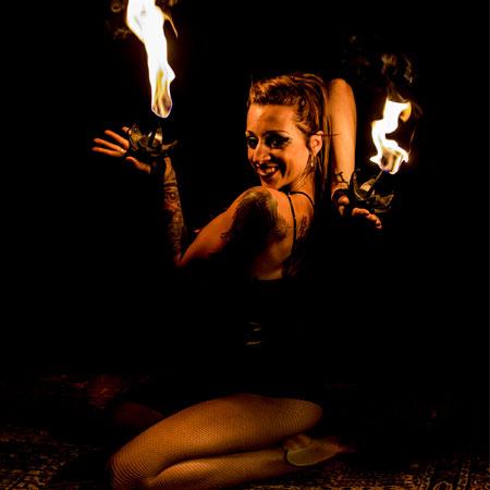 Tina Phoenix - Fire Contortionist
