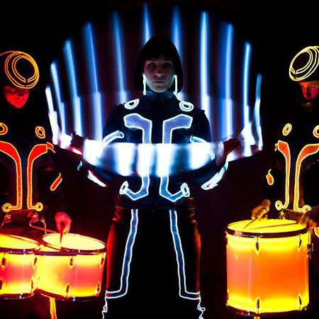 Ismen Neon and Tron Drummers