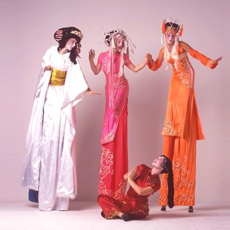 Divine Company - Geisha Stilt Walkers