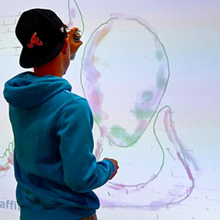 PurpleGlo - Digital Graffiti Wall