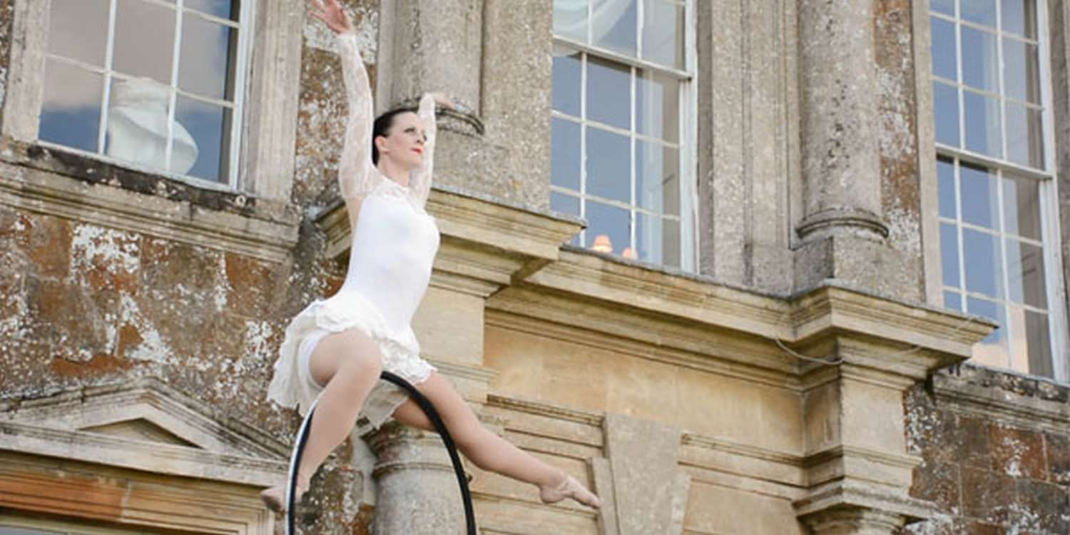 Aerial Performance Lifts Rolls Royce Event
