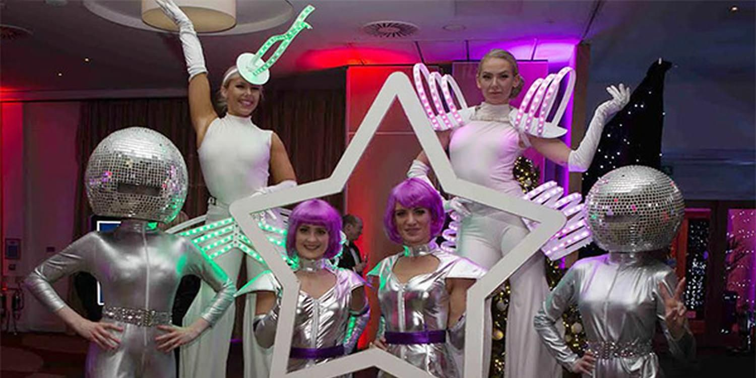 Mirror Ball Heads Add Sparkle To A Corporate Evening In Bedford (UK)