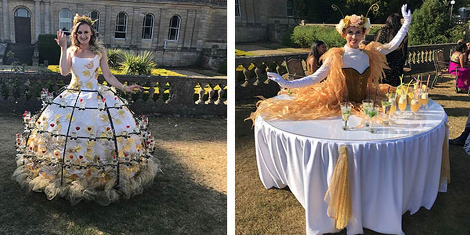Living Table Surprise At Luxury Wedding