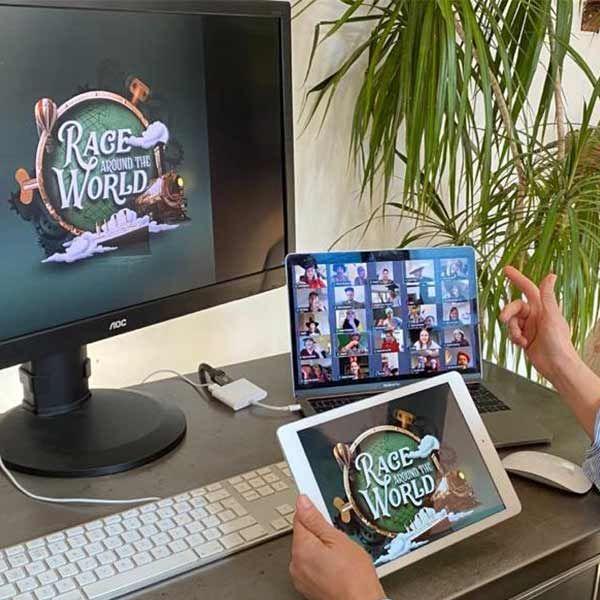 Virtual Race Around the World