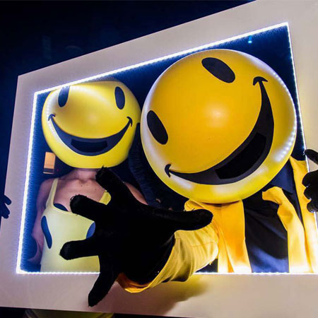 Candi Promotions - Smiley Face Head Walkabout Act
