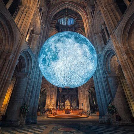 Giant Moon Art Installation