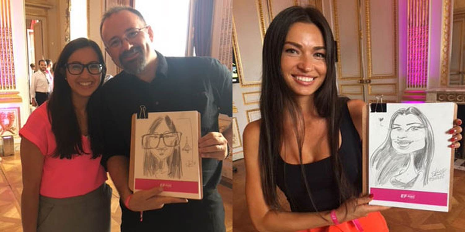 Caricaturist In Paris Captures Joy At #TourDeFrance