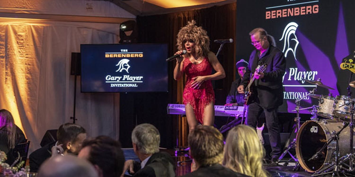 Tina Turner Tribute Wow's Guests At Gary Player International