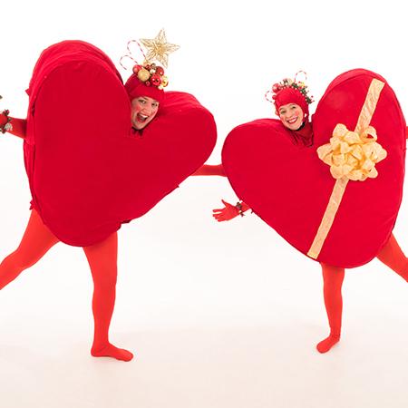 The Legendary Stilt Company - Christmas Hearts