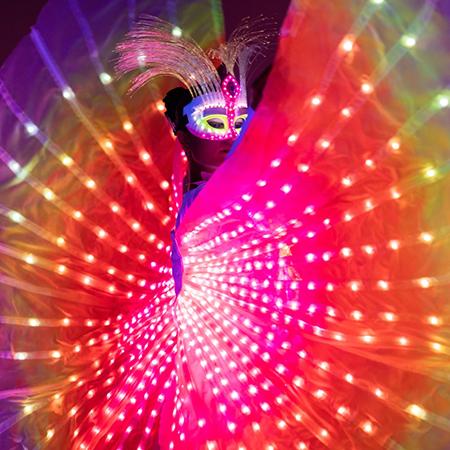 Luminous art-performances - Butterflies