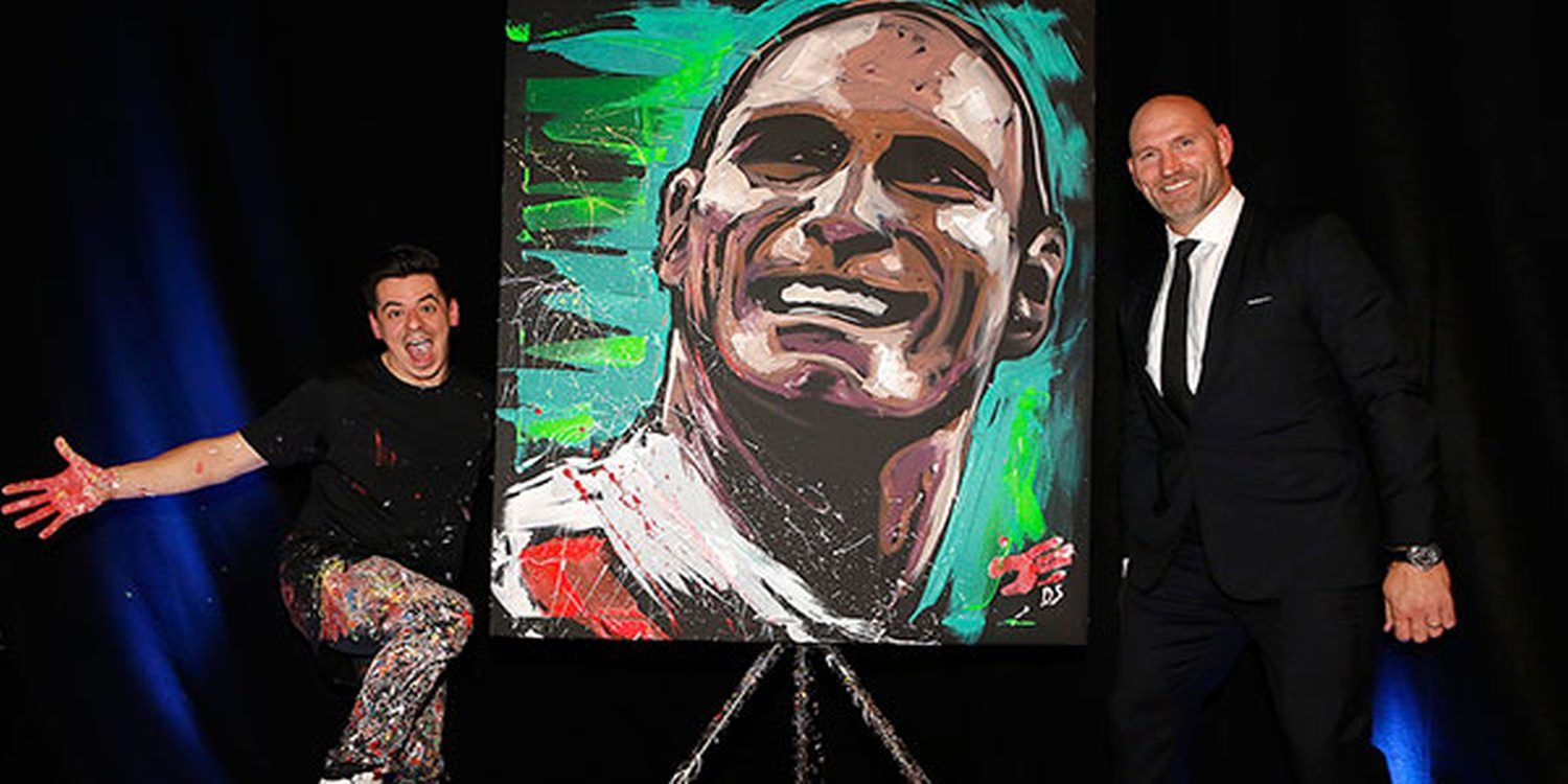 Speed Painter Dave Wows At Charity Event In London
