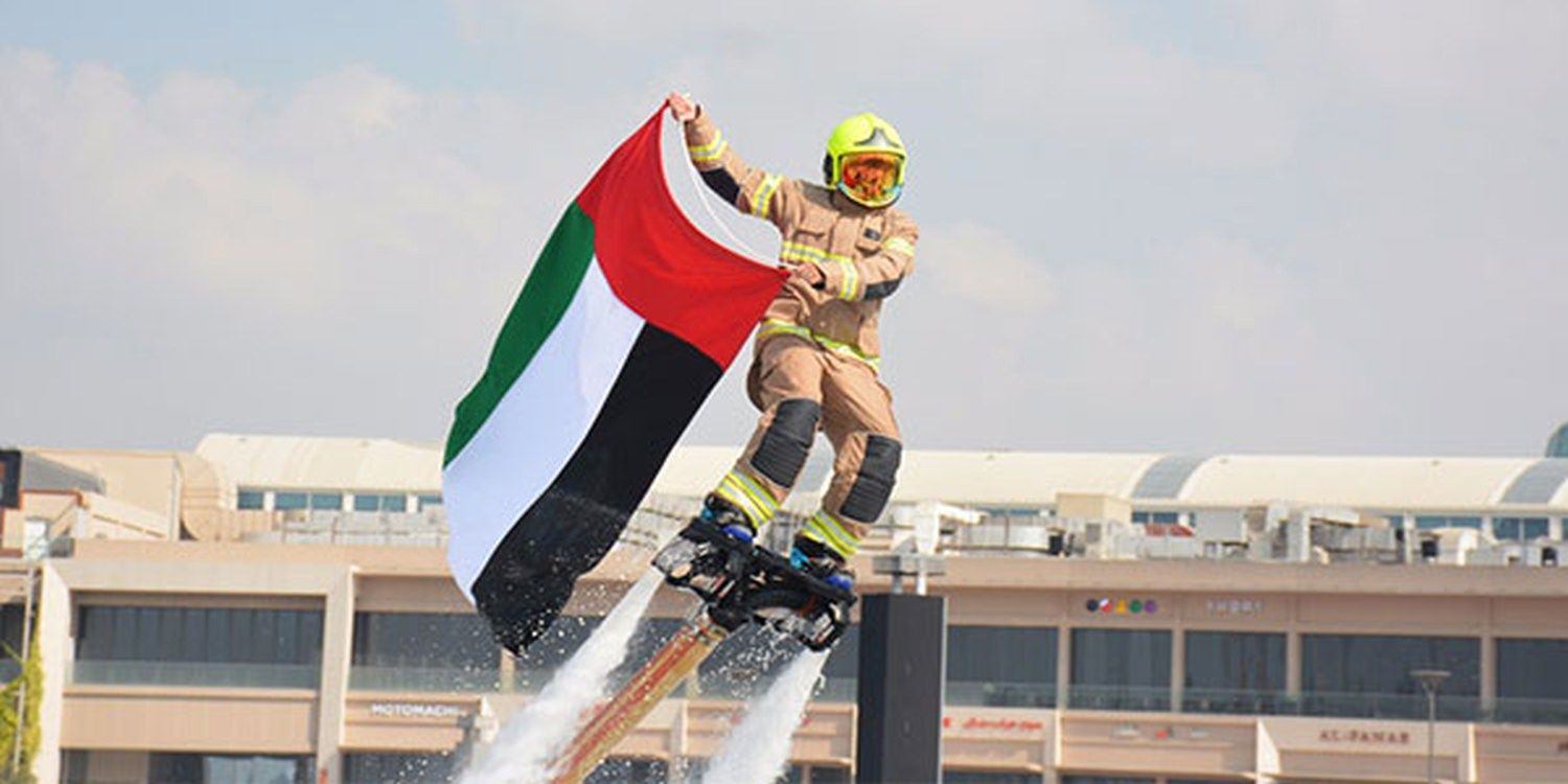 LED Water Jetpack Performers Make A Splash For Dubai National Day