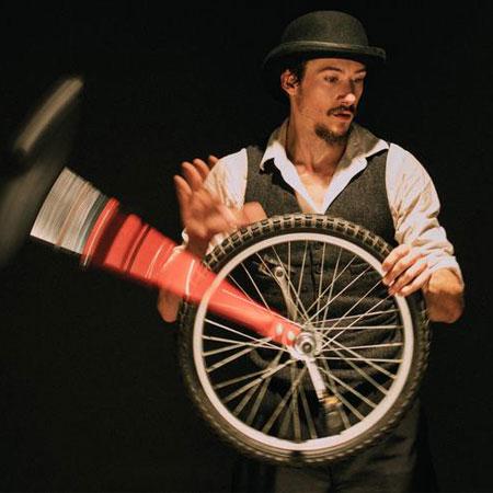 Justin Wood Circus - Unicyclist