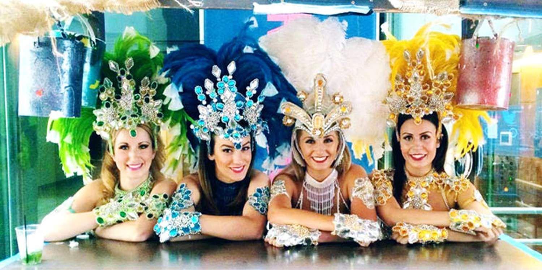 Carnival Showgirls Bring Olympic Spirit To London
