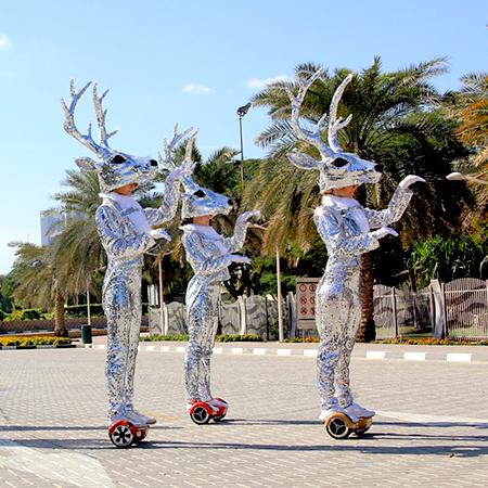 Aaliyah Art - Silver Reindeer