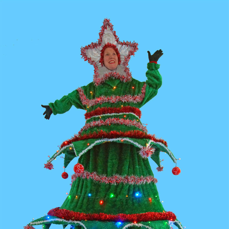 Mind Blowers - Christmas Stilt Walker